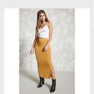 Bodycon Slit Maxi Skirt